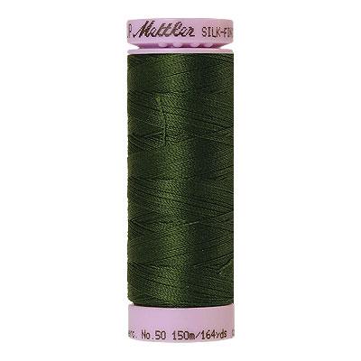Green - Mettler Silk Finish Cotton Thread - 164 yd - Leaf Green