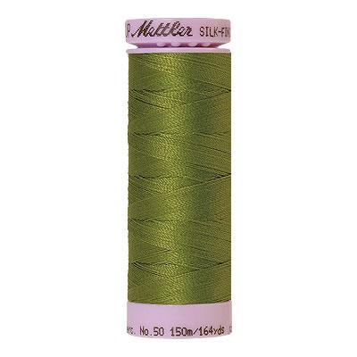 Green - Mettler Silk Finish Cotton Thread - 164 yd - Fern Green