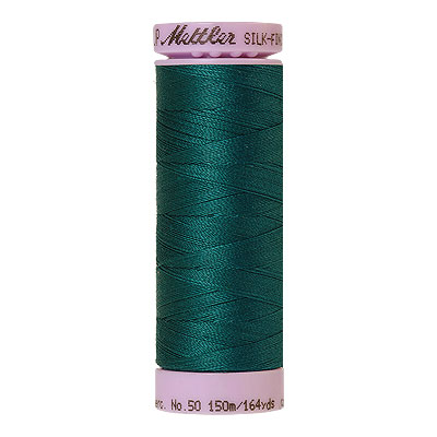 Turquoise - Mettler Silk Finish Cotton Thread - 164 yd - Dk Jade