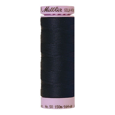 Blue - Mettler Silk Finish Cotton Thread - 164 yd - Deep Navy