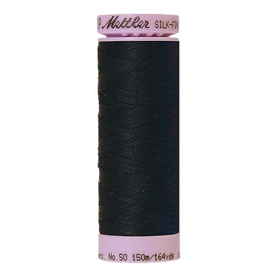 Blue - Mettler Silk Finish Cotton Thread - 164 yd - Indigo