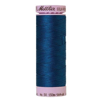 Blue - Mettler Silk Finish Cotton Thread - 164 yd - Blue