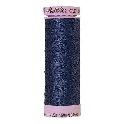 Blue - Mettler Silk Finish Cotton Thread - 164 yd - Admiral Blue