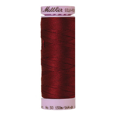 Burgundy - Mettler Silk Finish Cotton Thread - 164 yd - Rose