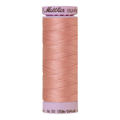 Peach - Mettler Silk Finish Cotton Thread - 164 yd - Dusty Peach