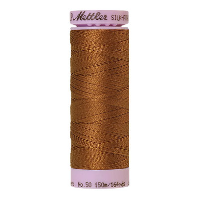 Gold - Mettler Silk Finish Cotton Thread - 164 yd - Cinnamon