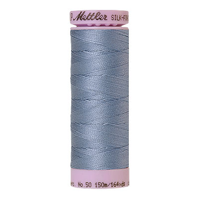 Blue - Mettler Silk Finish Cotton Thread - 164 yd - Wedgewood