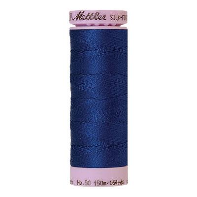Blue - Mettler Silk Finish Cotton Thread - 164 yd - Cobalt