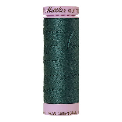 Turquoise -Mettler Silk Finish Cotton Thread - 164 yd - Mallard