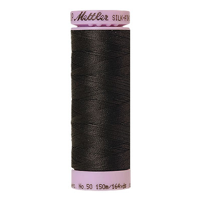 Gray - Mettler Silk Finish Cotton Thread - 164 yd - Charcoal