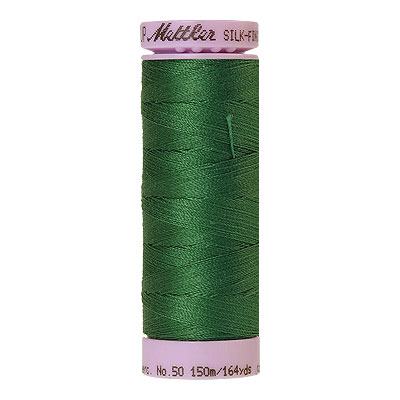 Green - Mettler Silk Finish Cotton Thread - 164 yd - Dark Leaf