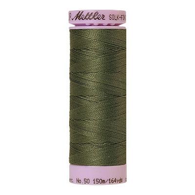 Green - Mettler Silk Finish Cotton Thread - 164 yd - Olive Grey