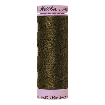 Green - Mettler Silk Finish Cotton Thread - 164 yd - Khaki Green