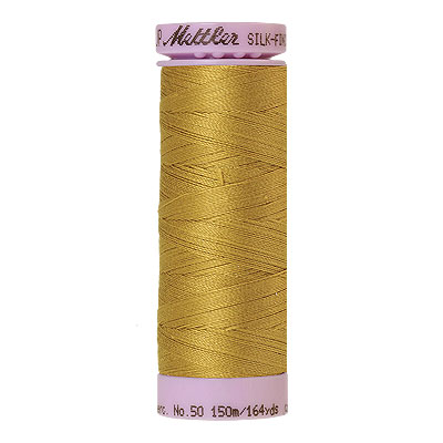 Yellow - Mettler Silk Finish Cotton Thread - 164 yd - Mustard