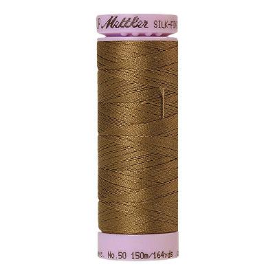 Gold - Mettler Silk Finish Cotton Thread - 164 yd - Md Coffee