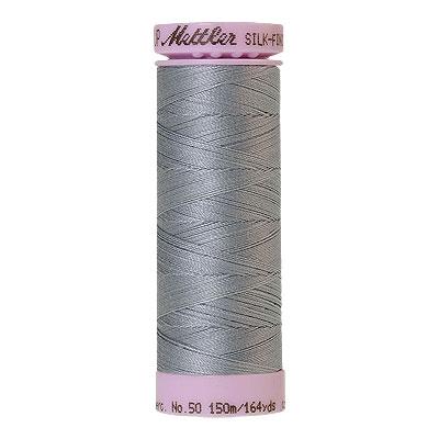 Blue - Mettler Silk Finish Cotton Thread - 164 yd - Lt Blue Grey