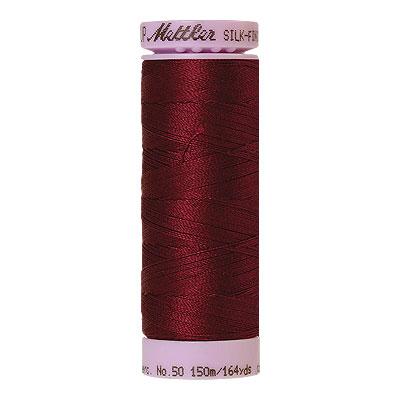 Burgundy - Mettler Silk Finish Cotton Thread - 164 yd - Burgundy