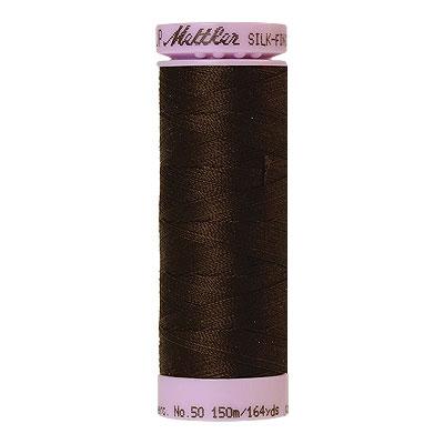 Mettler Silk Finish Cotton Thread - 164 yd - Very Dark Brown
