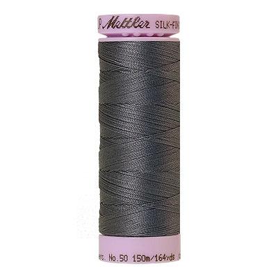 Gray - Mettler Silk Finish Cotton Thread - 164 yd - Dk Blue Gray