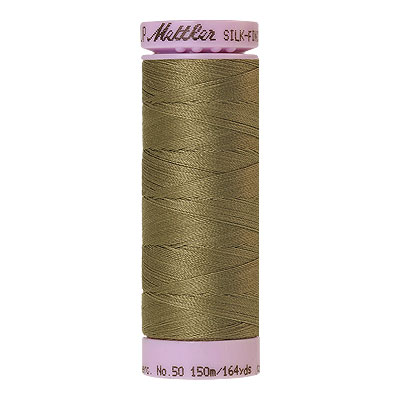 Green - Mettler Silk Finish Cotton Thread - 164 yd - Light Olive