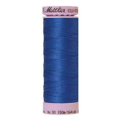Blue - Mettler Silk Finish Cotton Thread - 164 yd - Bright Blue