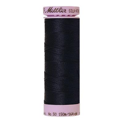 Blue -Mettler Silk Finish Cotton Thread - 164 yd - Midnight Blue