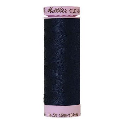 Blue - Mettler Silk Finish Cotton Thread - 164 yd - Dark Blue