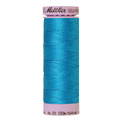 Aqua - Mettler Silk Finish Cotton Thread - 164 yd - Bright Aqua