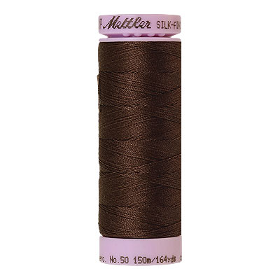 Brown - Mettler Silk Finish Cotton Thread - 164 yd - Lt Raisin
