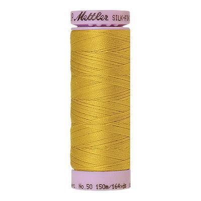 Yellow - Mettler Silk Finish Cotton Thread - 164 yd - Bt Gold