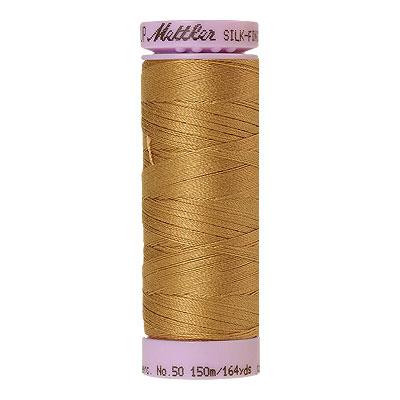 Gold - Mettler Silk Finish Cotton Thread - 164 yd - Temple Gold