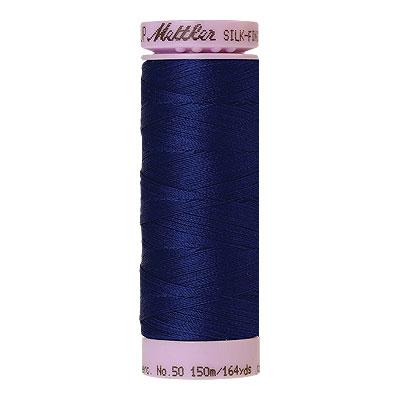 Blue - Mettler Silk Finish Cotton Thread - 164 yd - Dark Cobalt
