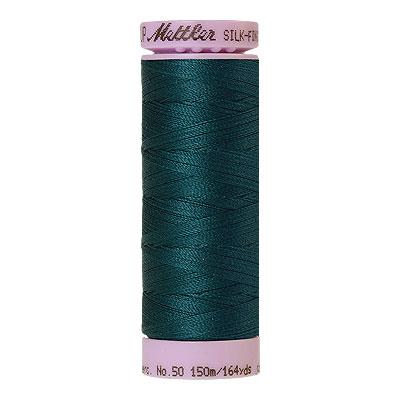 Green - Mettler Silk Finish Cotton Thread - 164 yd - Dk Mallard