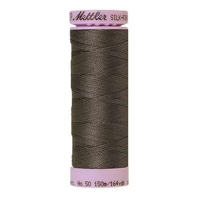 Gray - Mettler Silk Finish Cotton Thread - 164 yd - Dk Pearl