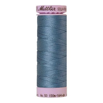 Blue - Mettler Silk Finish Cotton Thread - 164 yd - Copenhagen
