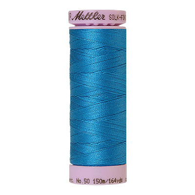 Blue - Mettler Silk Finish Cotton Thread - 164 yd - Dark Peacock