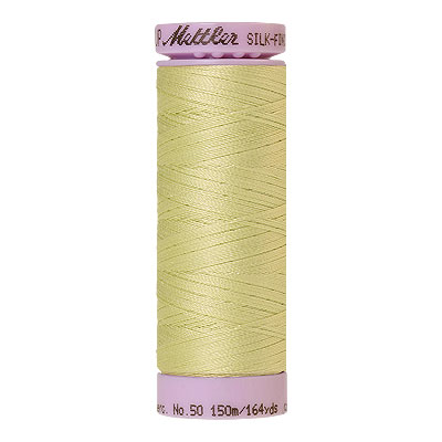 Green - Mettler Silk Finish Cotton Thread - 164 yd - Lt Key Lime