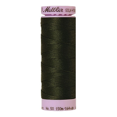 Green - Mettler Silk Finish Cotton Thread - 164 yd - Dk Hunter