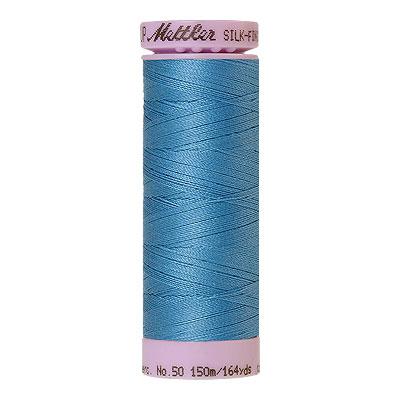 Blue - Mettler Silk Finish Cotton Thread - 164 yd - Azure Blue