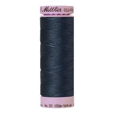 Blue - Mettler Silk Finish Cotton Thread - 164 yd- Dk Dusty Blue