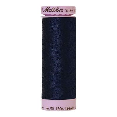 Blue - Mettler Silk Finish Cotton Thread - 164 yd - Navy