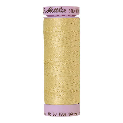 Yellow - Mettler Silk Finish Cotton Thread - 164 yd - Banana