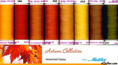 Mettler Silk Finish Cotton Thread Set - Autumn Collection