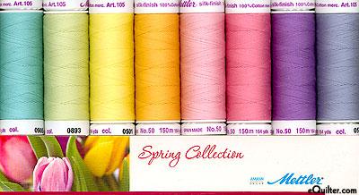 Mettler Silk Finish Cotton Thread Set - Spring Collection