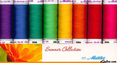 Mettler Silk Finish Cotton Thread Set - Summer Collection
