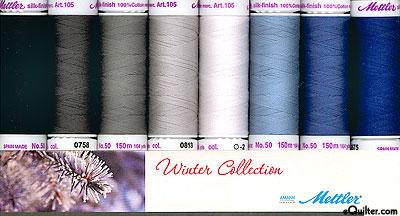 Mettler Silk Finish Cotton Thread Set - Winter Collection