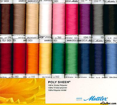 Mettler Poly Sheen Thread Set - 18 Spool Kit