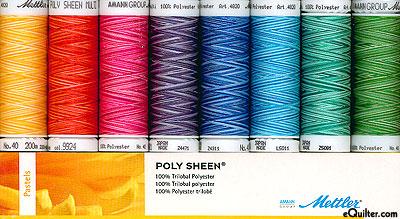 Mettler Poly Sheen Thread Set - Pastels