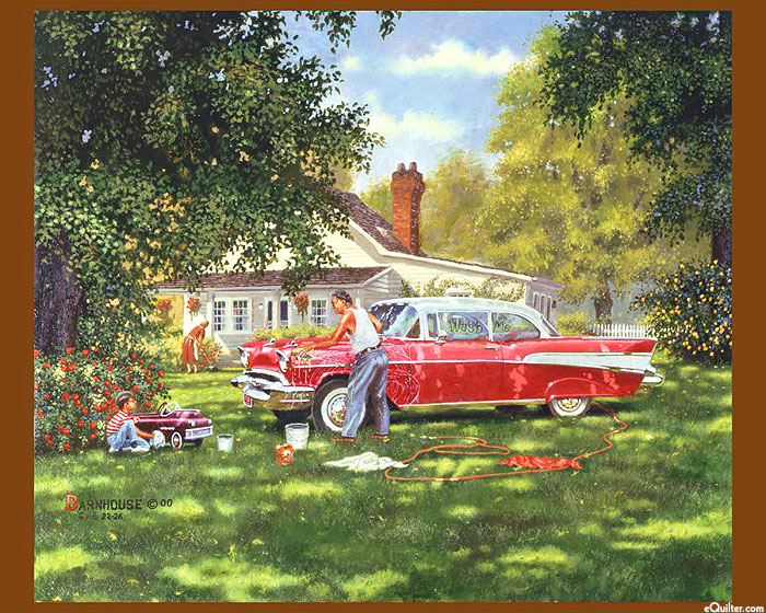 "Wash Me - Classic Cars - 36"" x 44"" PANEL - DIGITAL PRINT"