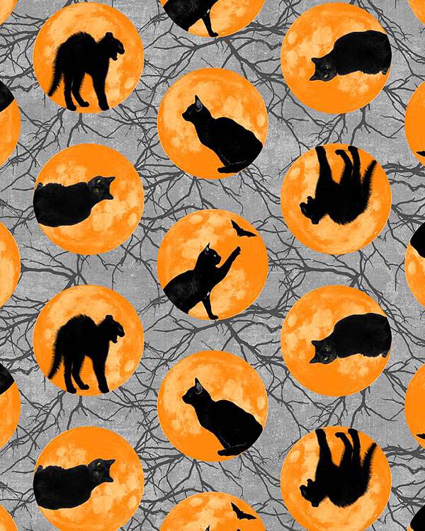 Black Cat Capers - Kitty Orbs - Pewter Gray